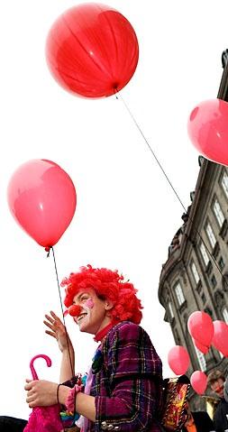 Tina med balloner